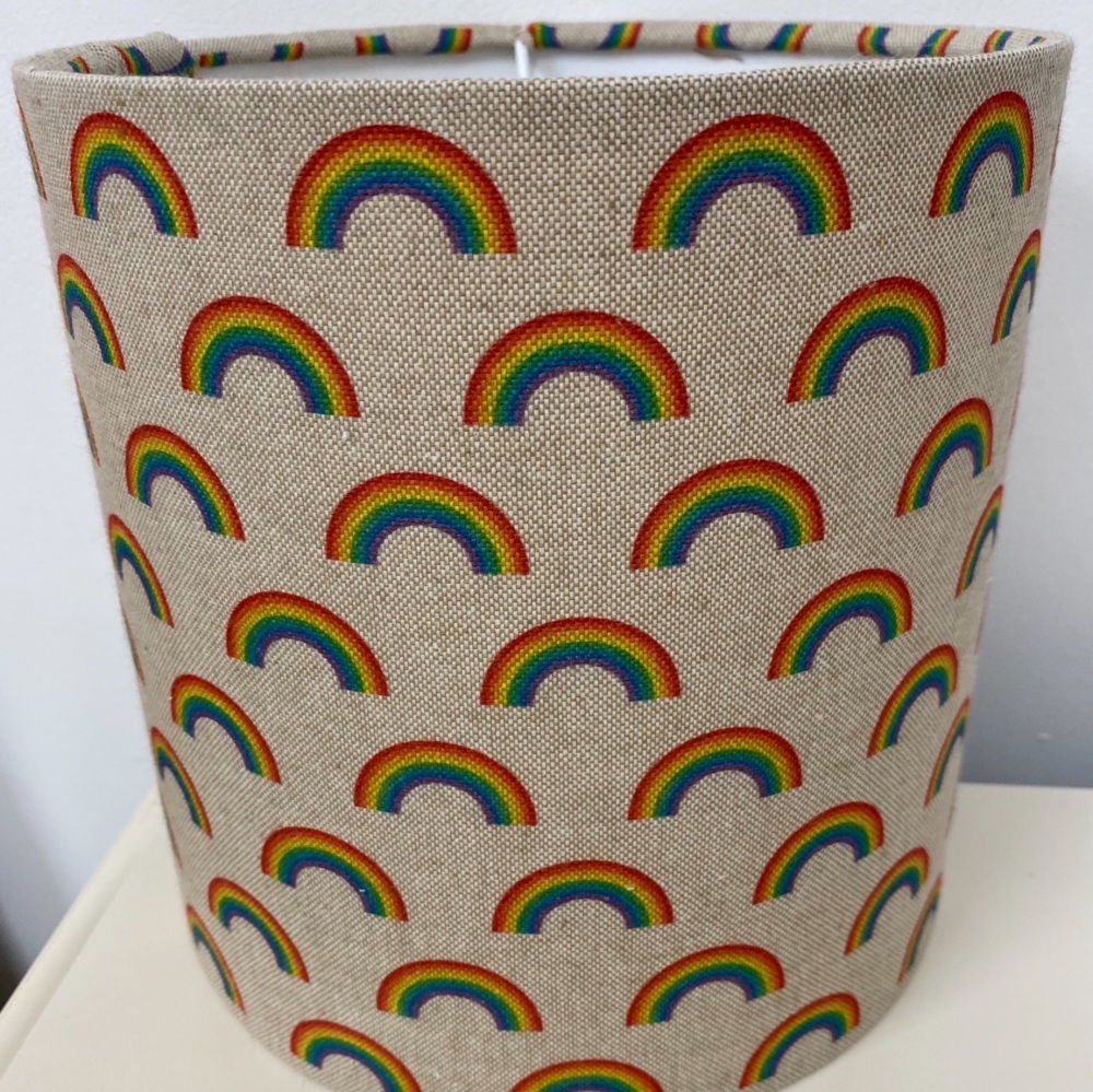 Linen Rainbow Kids Lampshade