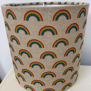 Bespoke Custom Handmade Linen Rainbow Kids Lampshade