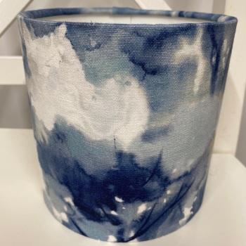 Bespoke Custom Handmade Studio G Sagano Ink Blue Forest Abstract Watercolour Tree Lampshade