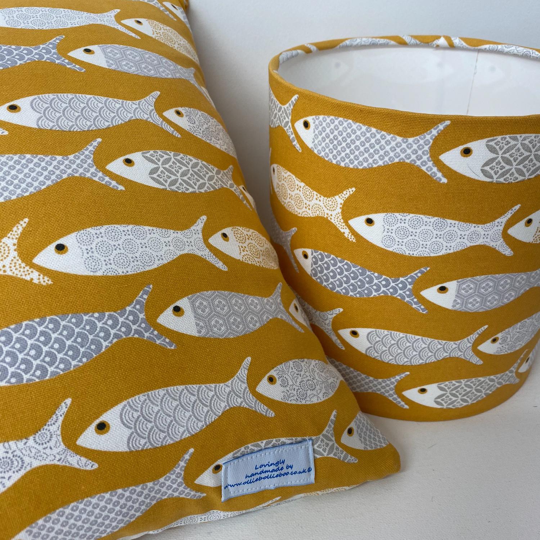 Fish lampshade & cushion