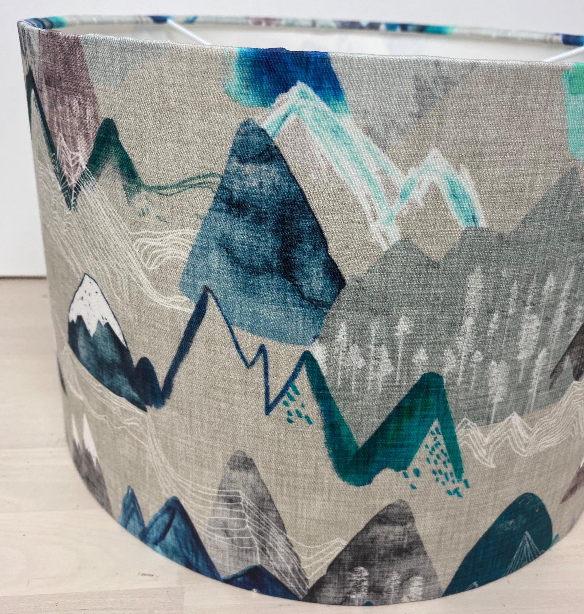 Mountain Drum Lampshade