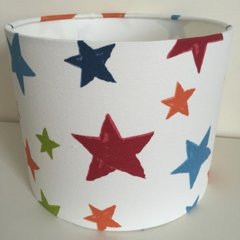 Superstars Star Stars Paintbox  Lampshade in Red Blue Orange Green
