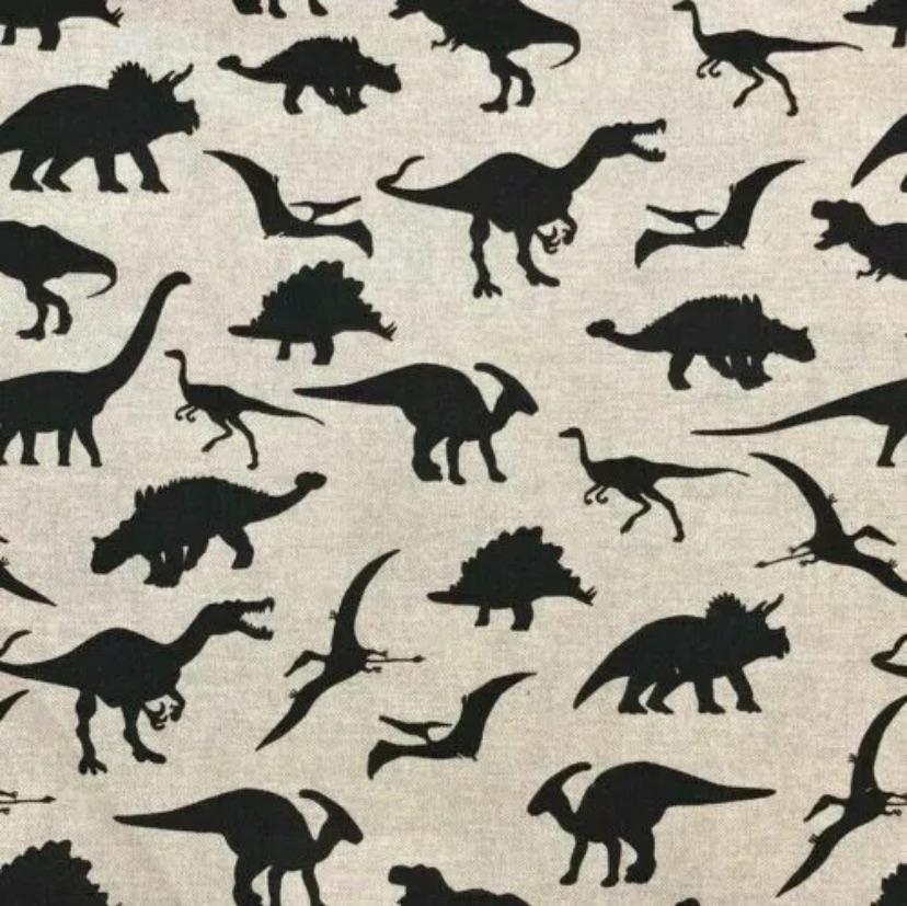 Handmade Dinosaur Cushion -  linen Fabric