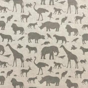 Handmade Animal Cushion -  linen Fabric