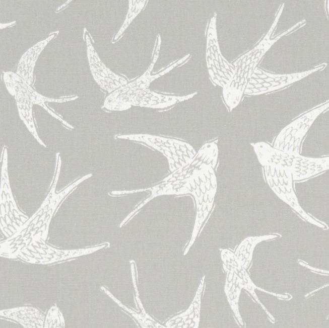 Handmade Swallows Lampshade -Grey Nautical Light Shade