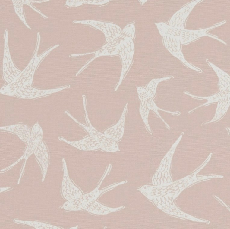 Handmade Swallows Lampshade -Pink Nautical Light Shade