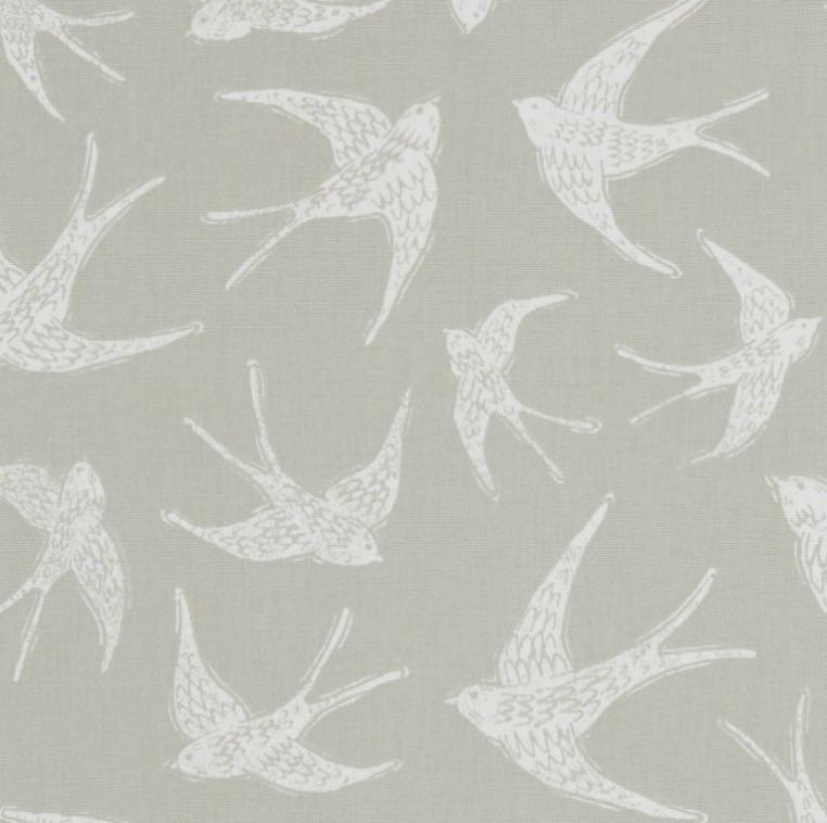 Handmade Swallows Lampshade - Taupe Brown Nautical Light Shade