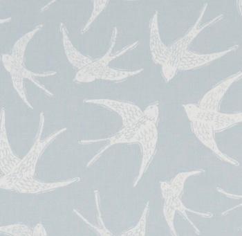Handmade Swallows Lampshade - Pale Blue Nautical Light Shade