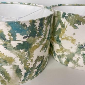 Handmade Fern Lampshade in Studio G Arielli Green Teal Fabric