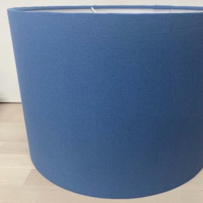 Bespoke Custom lampshade in Studio G  Alora Denim Dark Blue Plain Fabric