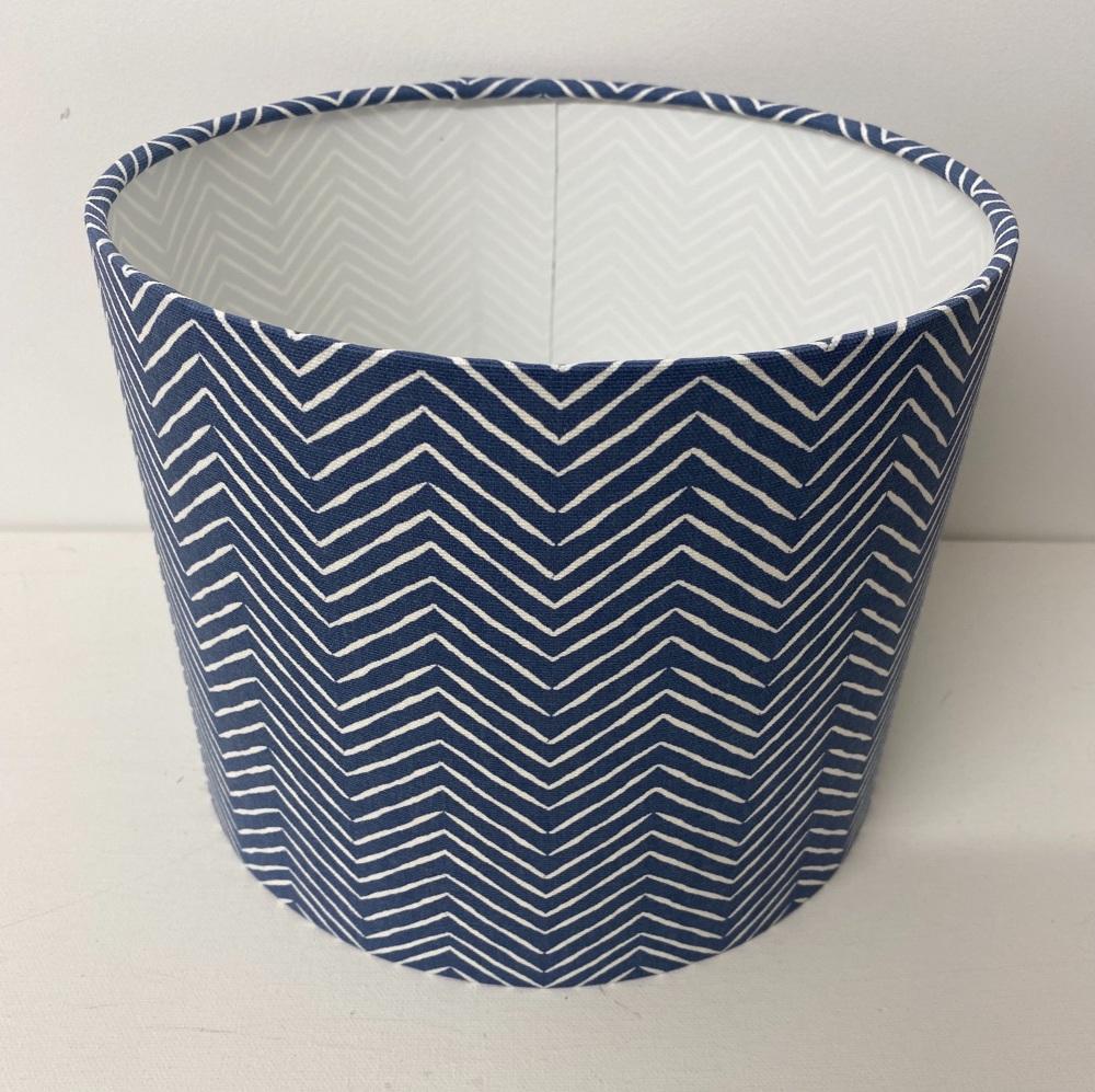 Blue Geometric Lampshade in Pica Denim