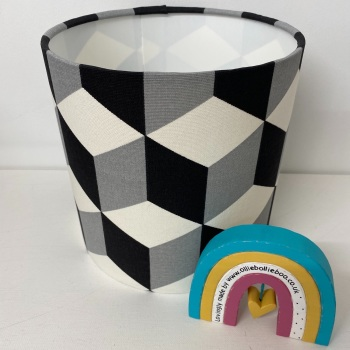 Black Grey Cube Jet Geometric Lampshade