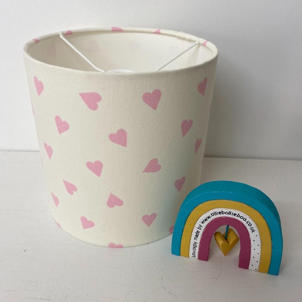 Bespoke Custom Handmade Pink White Heart Lampshade
