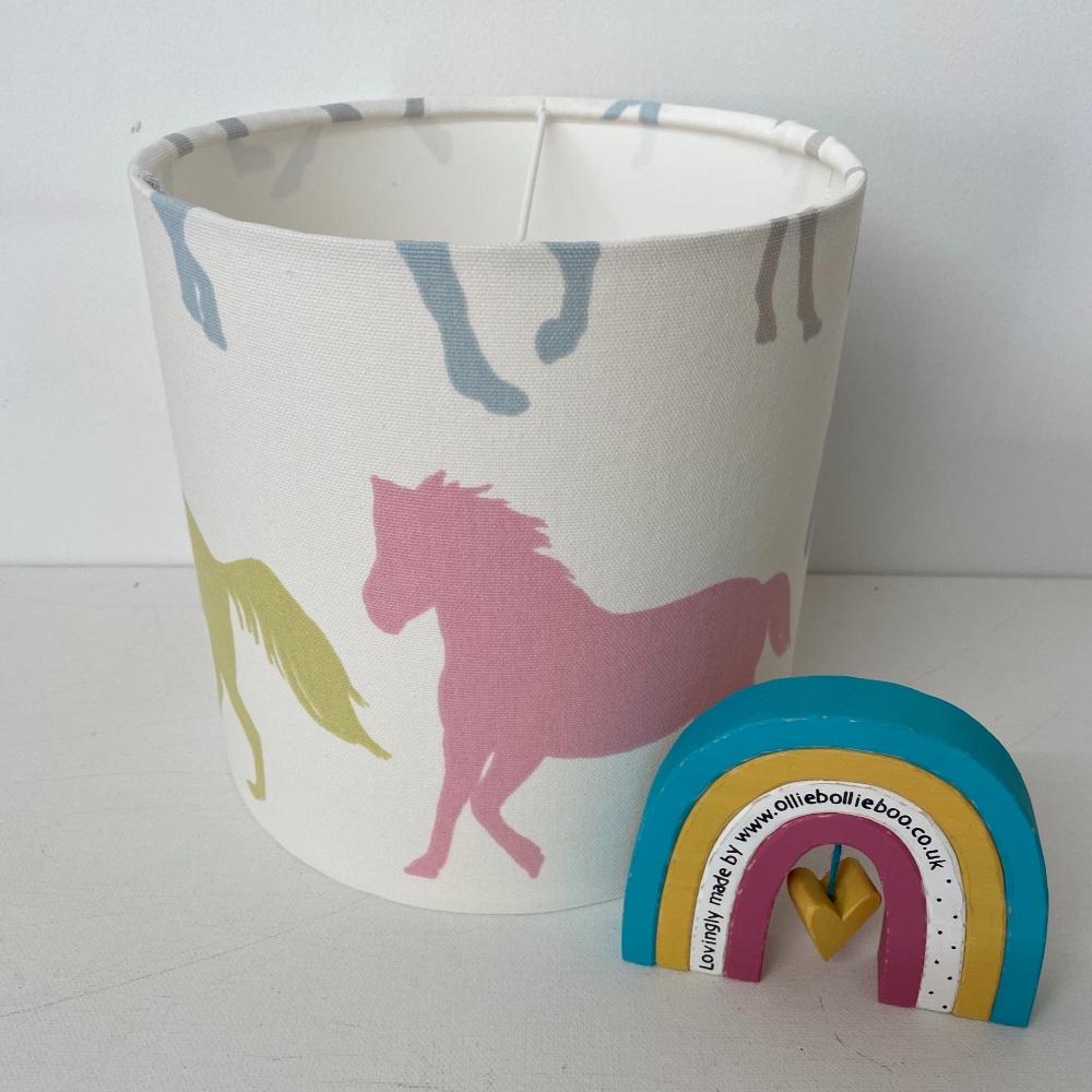 Bespoke Custom Handmade Stampede Pink Yellow Blue Pony Ponies Horse Pastel