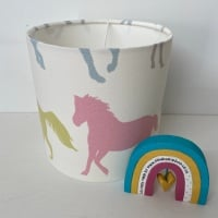 Pony  Lampshade - Pink Blue Yellow