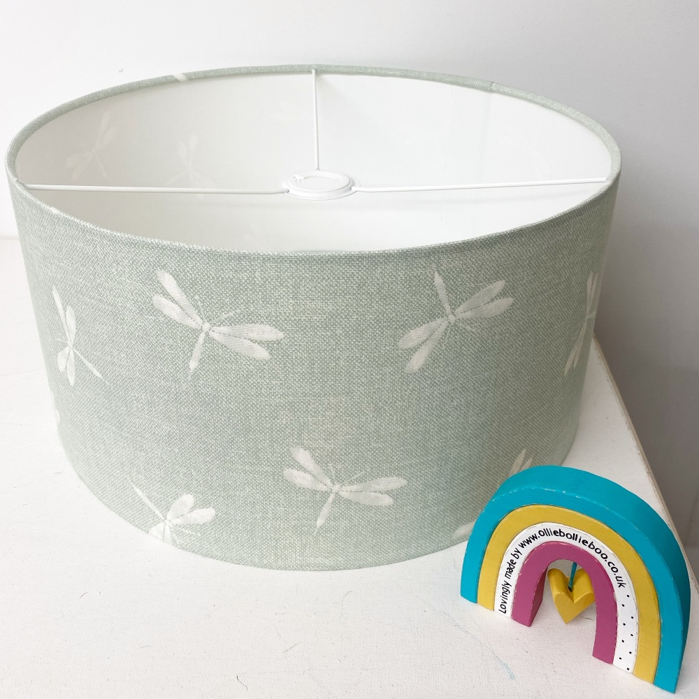 Dragonfly Duck Egg  Blue Lampshade