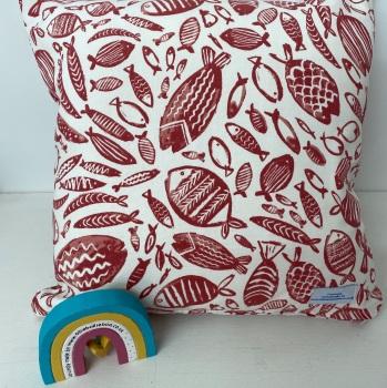 Fish Cushion - Red Trawler
