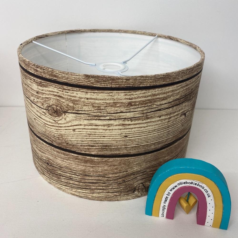 Brown wood Lampshade