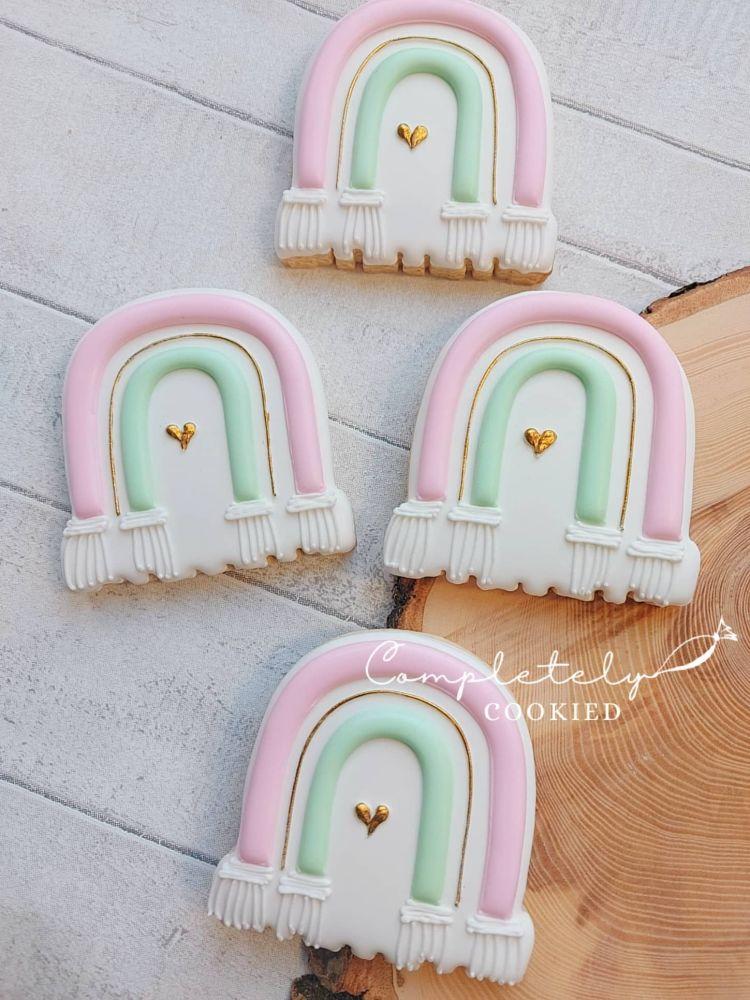 Macramé Rainbow - single cookie