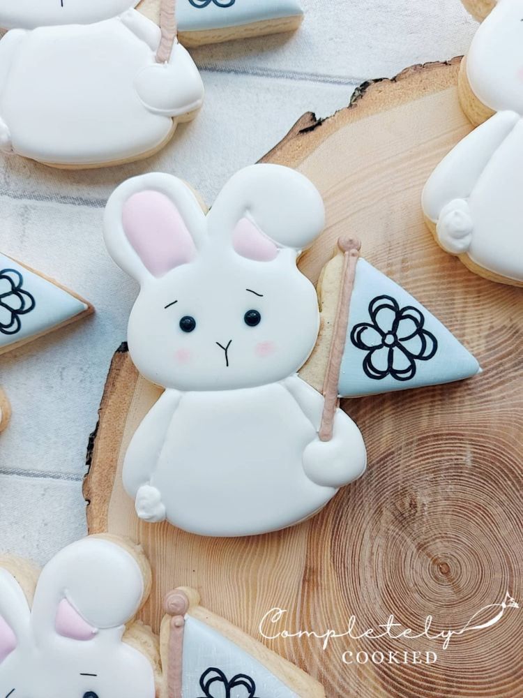 Spring bunny - single cookie
