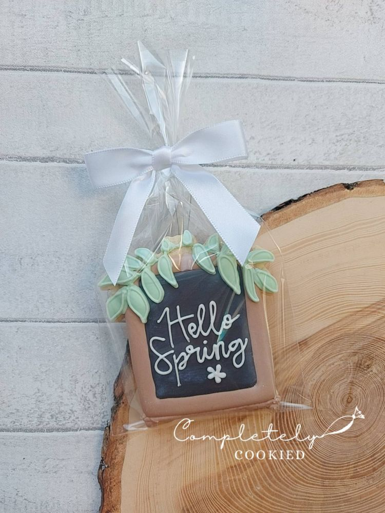 Hello Spring - single cookie