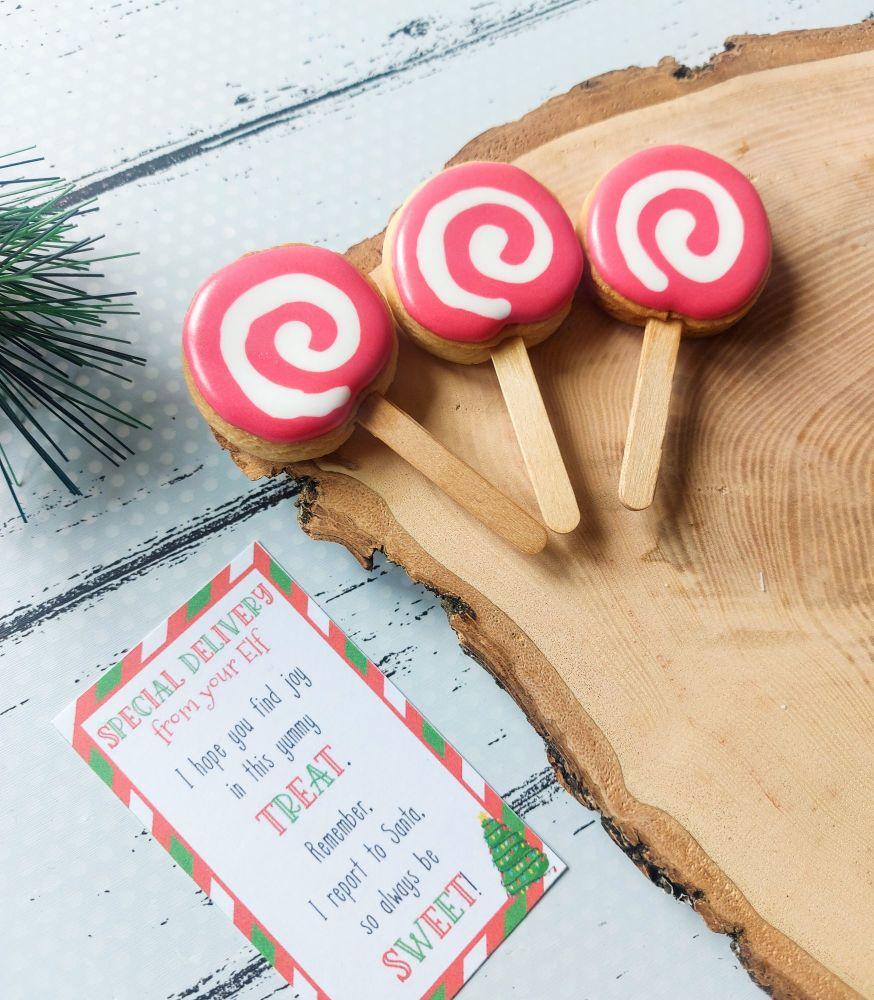 Elf antics - Mini Cookie Pops