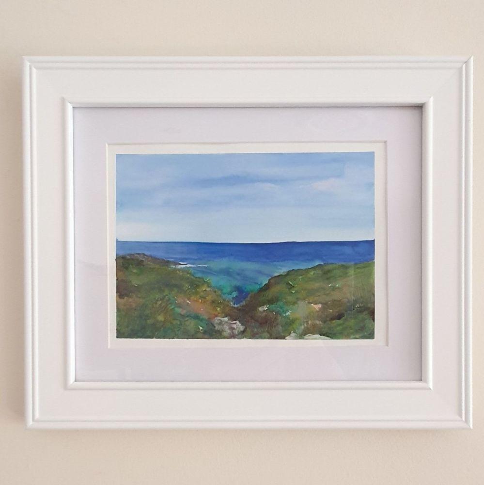 Original Cornish coastline painting