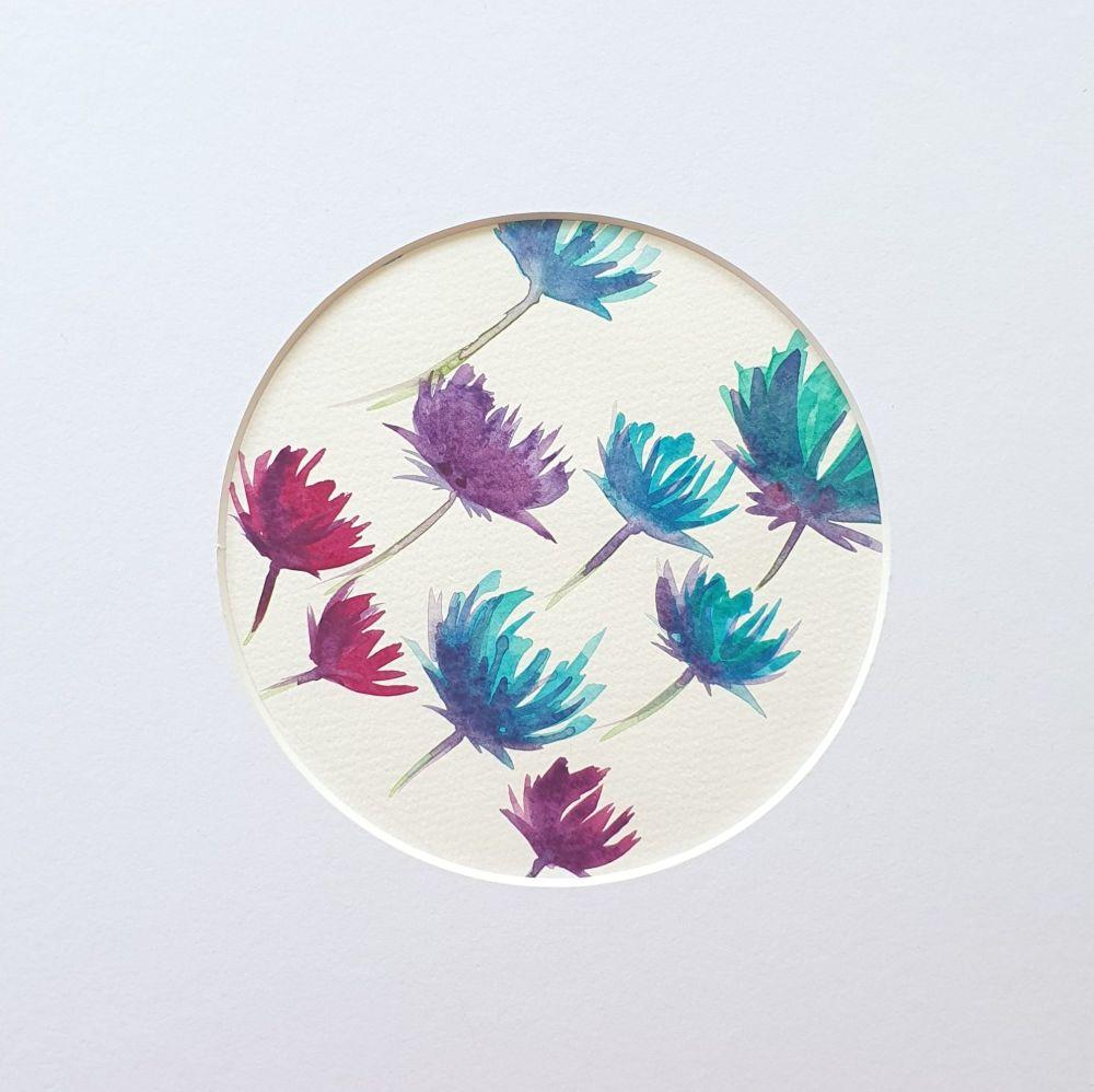 Original floral watercolour