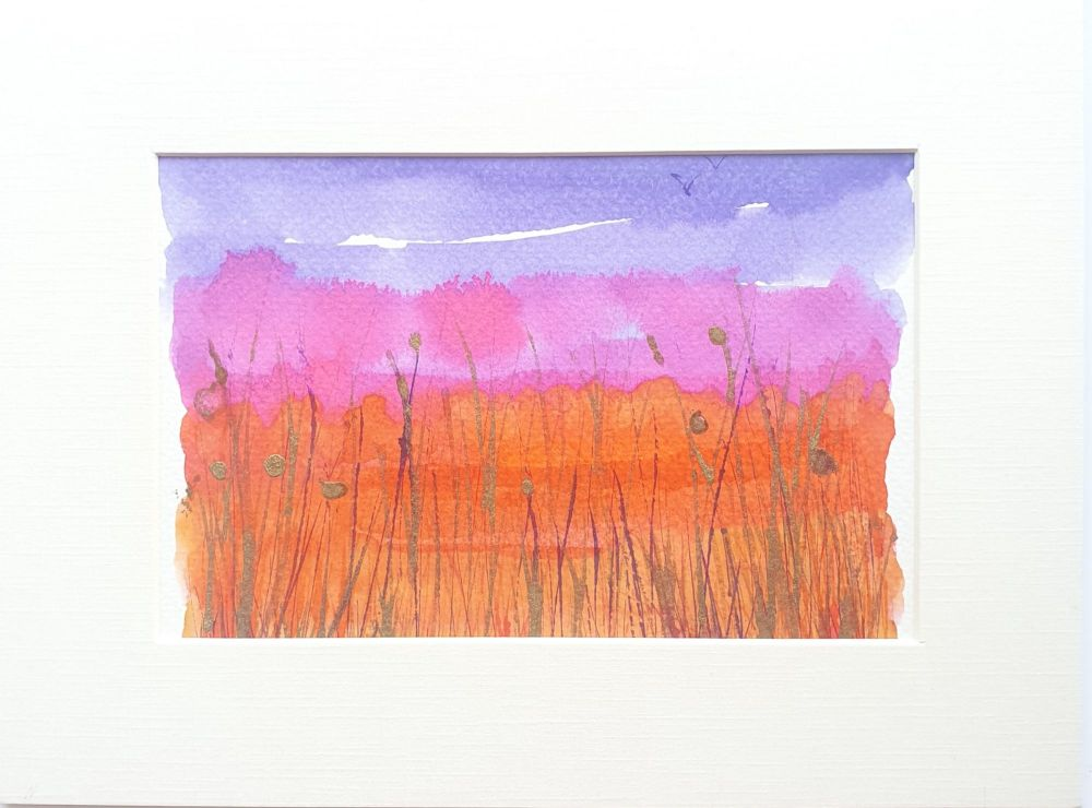 Abstract ink landscape