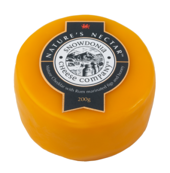Snowdonia Cheese Company Mature Cheddar with Rum, Marinated Figs & Honey Wax Truckle 200g