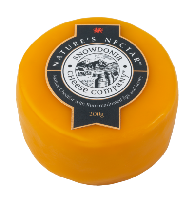 Mature Cheddar with Rum, Marinated Figs & Honey Wax Truckle 200g