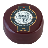 Snowdonia Cheese Company Pickle Power Cheddar with Pickled Onions Wax Truckle 200g