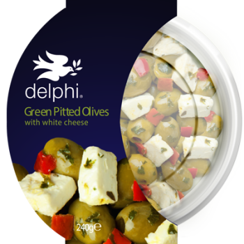 Green Pitted Olives with Feta 240g