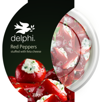 Delphi Foods Stuffed Red Peppers With Feta  200g