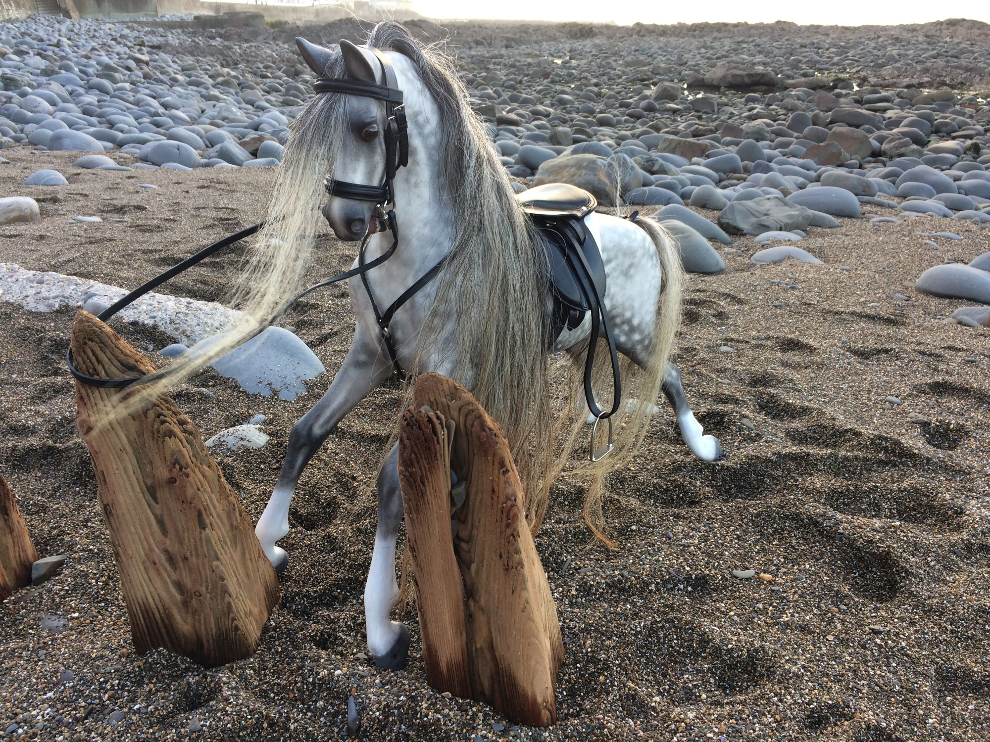 Haddon rocking horse  restored in a realistic style