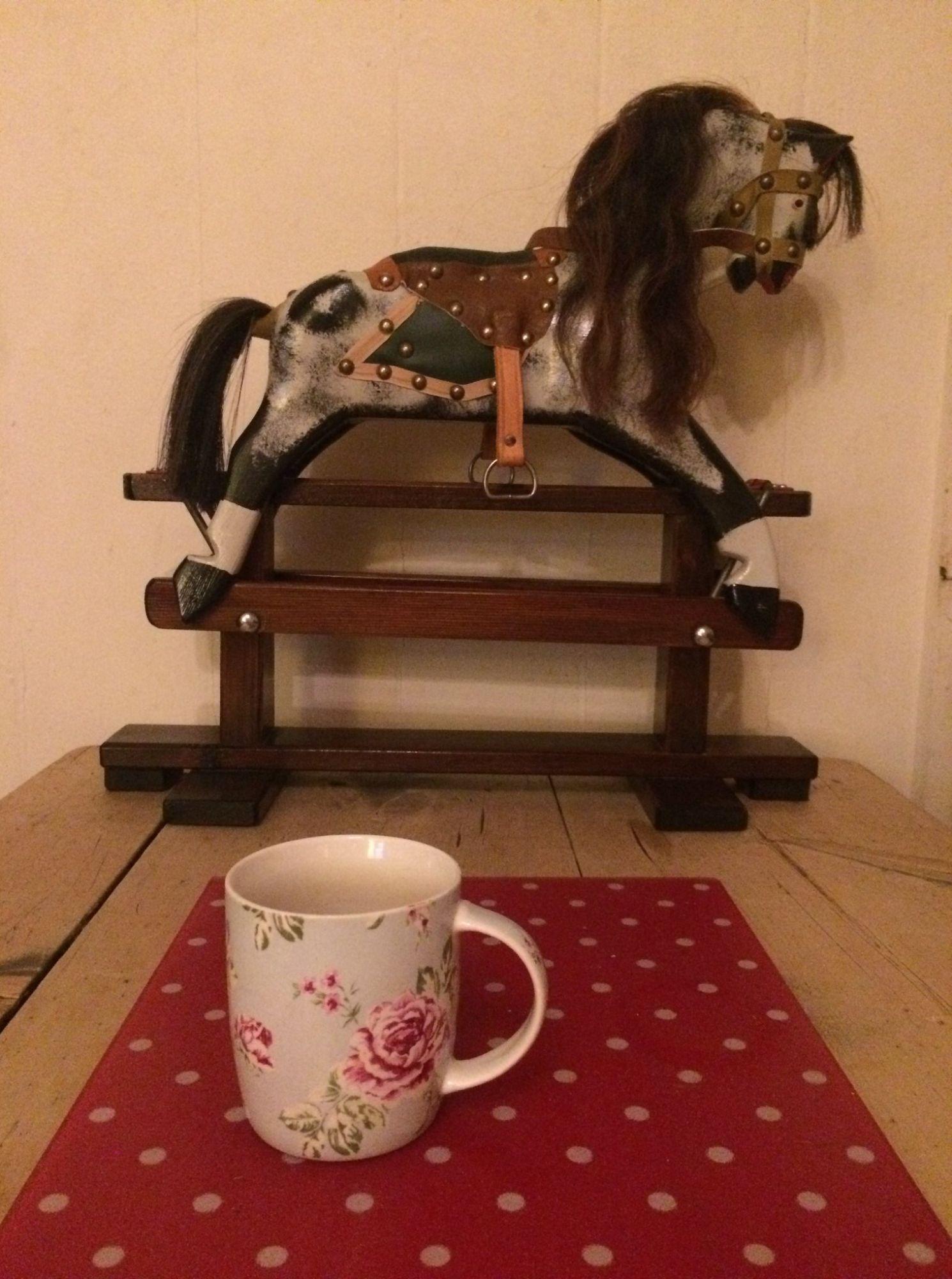 Rare dolls size miniature Collinsons rocking horse