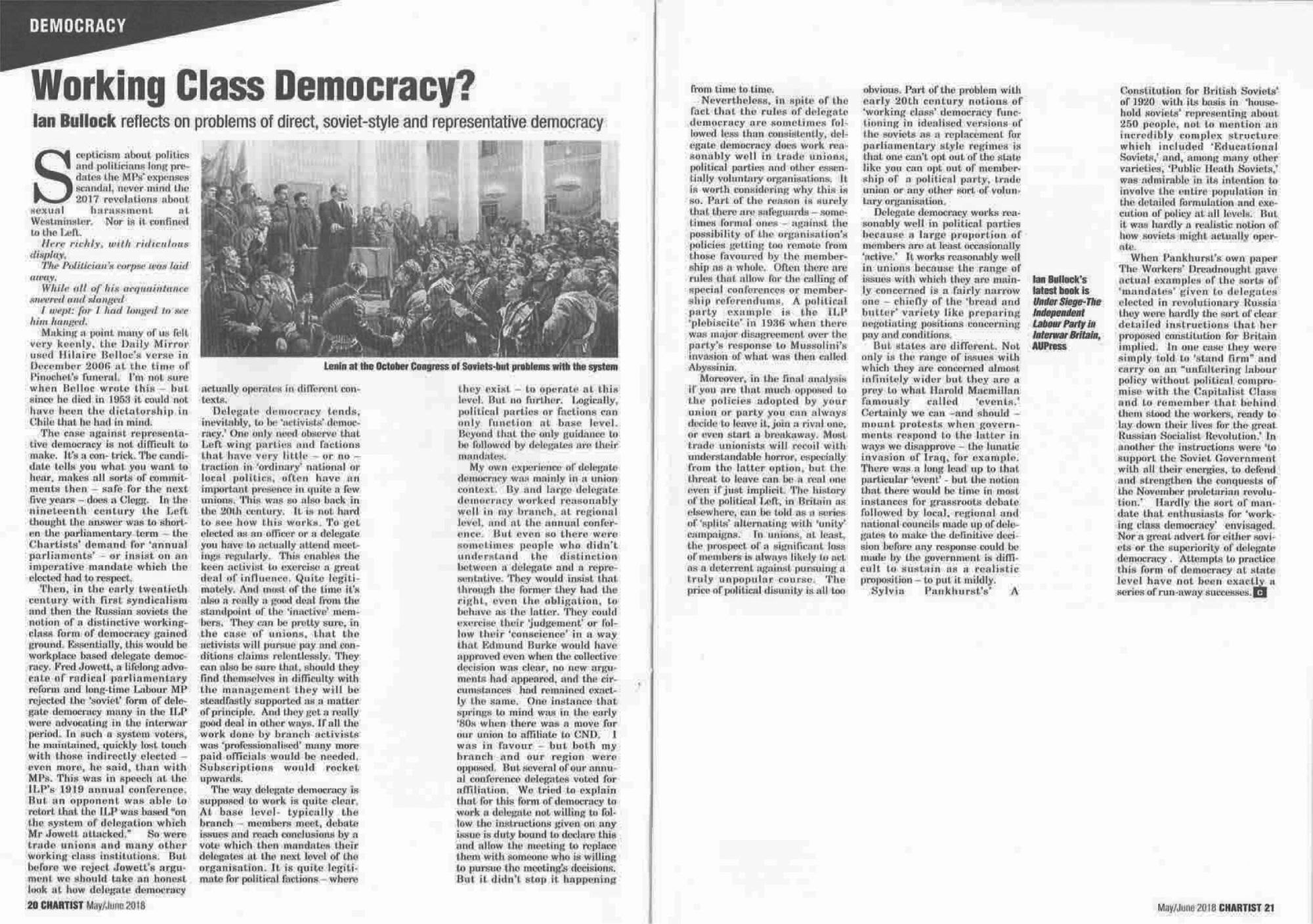 WORKING CLASS DEMOCRACY
