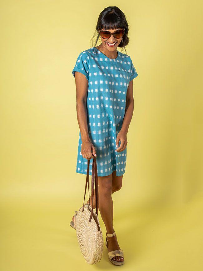 Stevie blue tunic dress 3