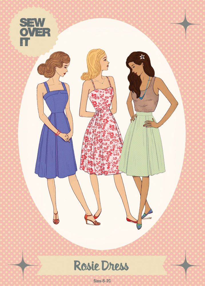 Rosie Dress and Skirt Sewing Pattern
