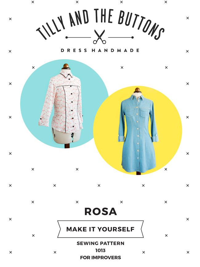 Rosa Dress and Shirt Sewing Pattern