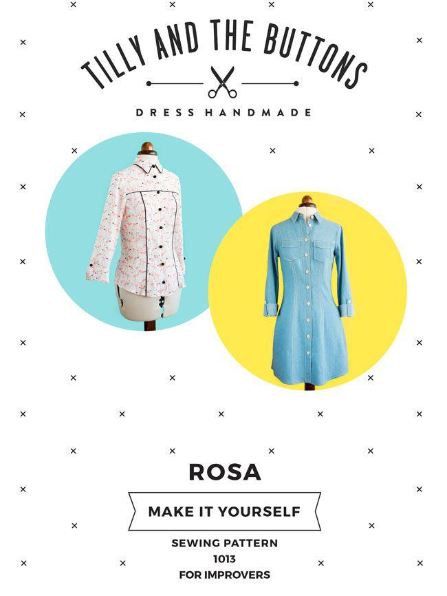 Rosa Dress and Shirt Sewing Pattern