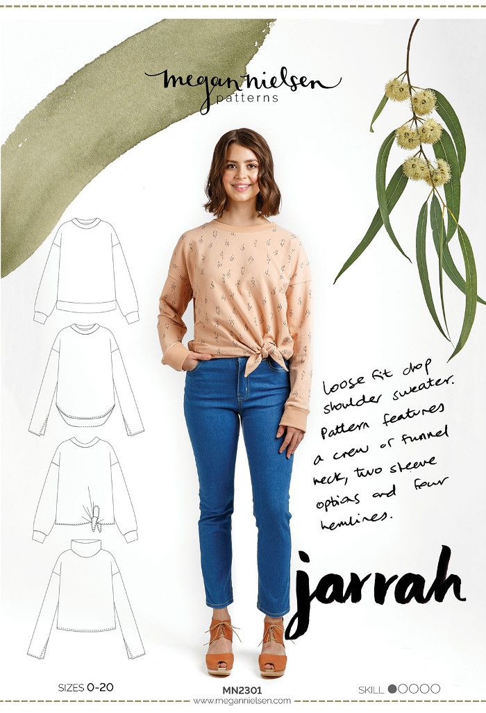 Jarrah Sweater Sewing Pattern