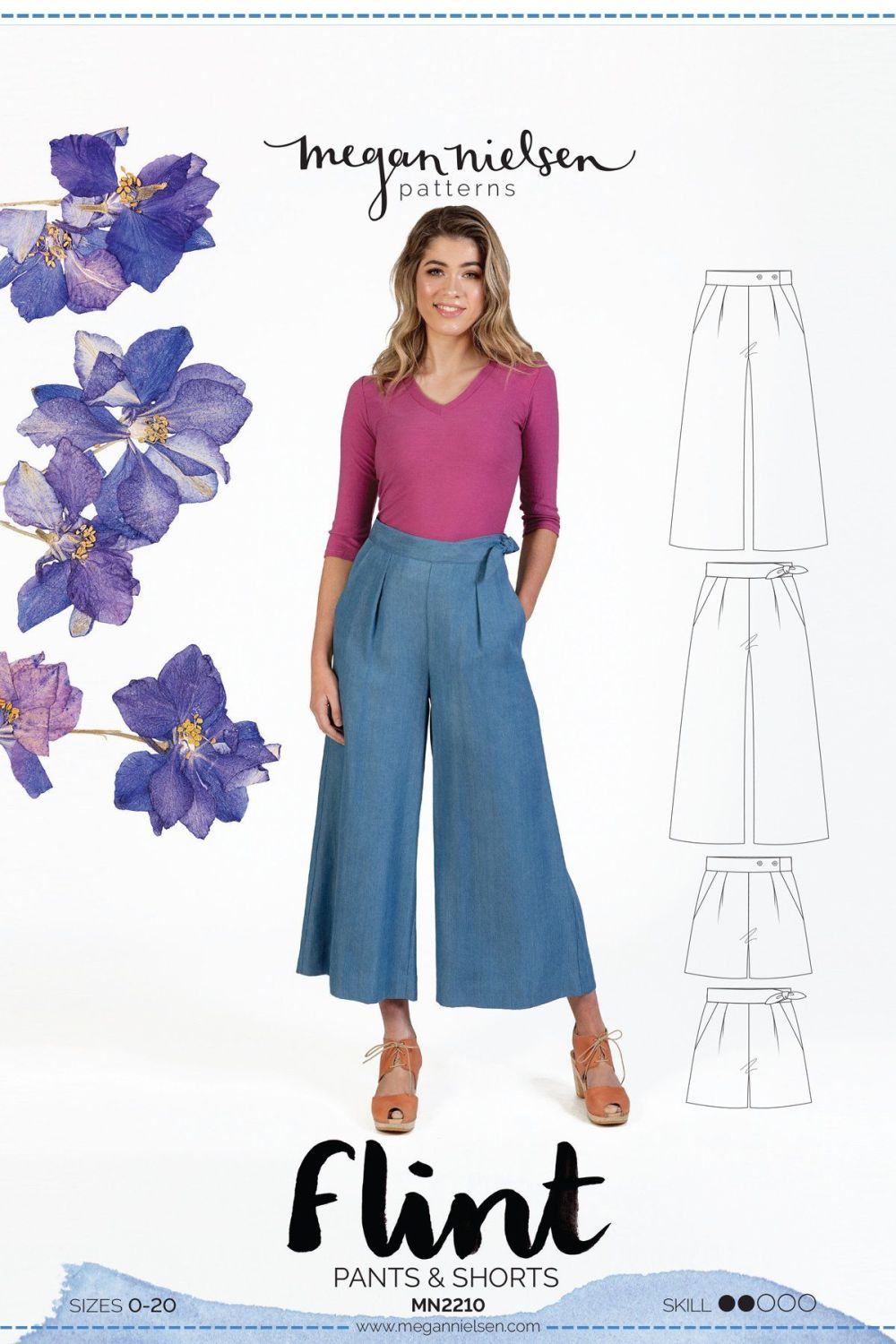 Flint Trousers and Shorts Sewing Pattern