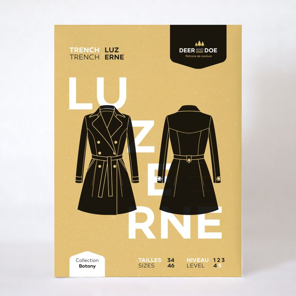 Luzerne Trench Coat Sewing Pattern