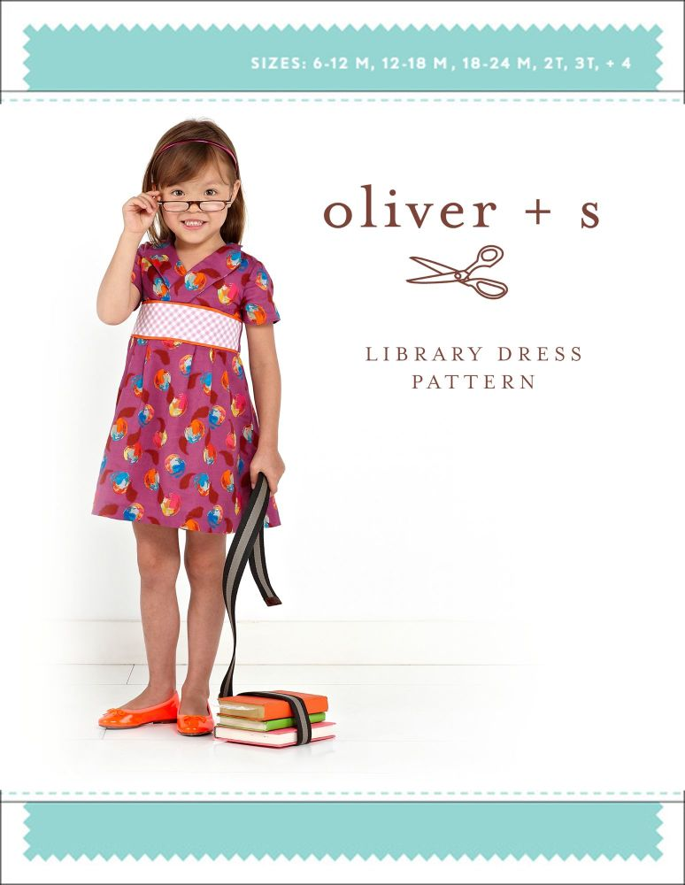 Library Dress (6m - 4 yrs) Sewing Pattern