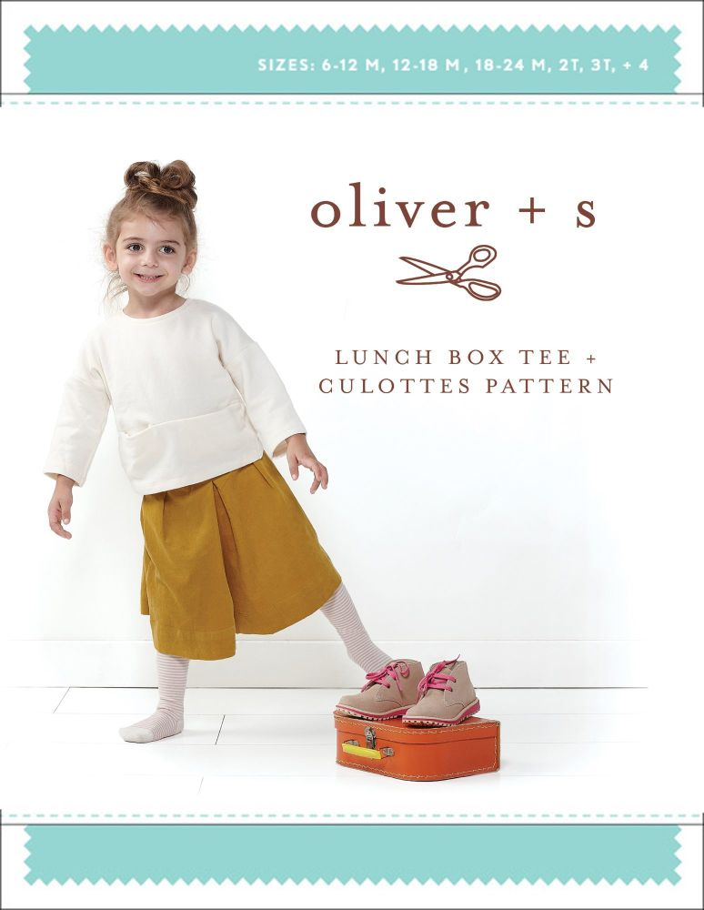 Lunch Box Tee and Culottes (6m - 4 yrs) Sewing Pattern