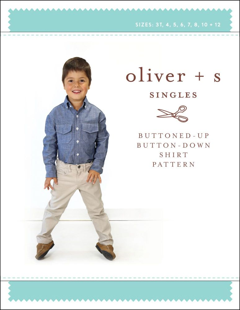 Buttoned-Up Button-Down Shirt (3 - 12 years) Sewing Pattern