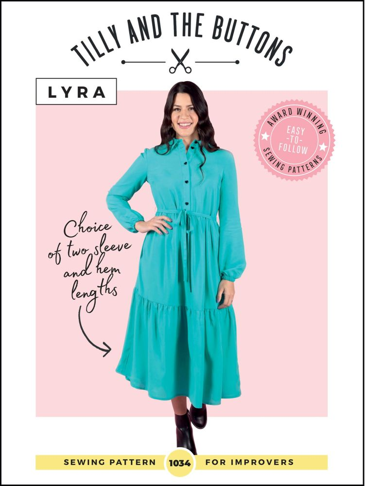 Lyra Shirt Dress Sewing Pattern