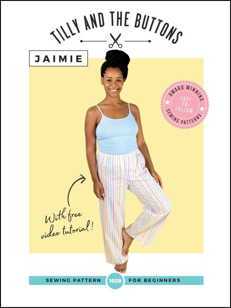 Jaimie Pyjama Bottoms and Shorts Sewing Pattern