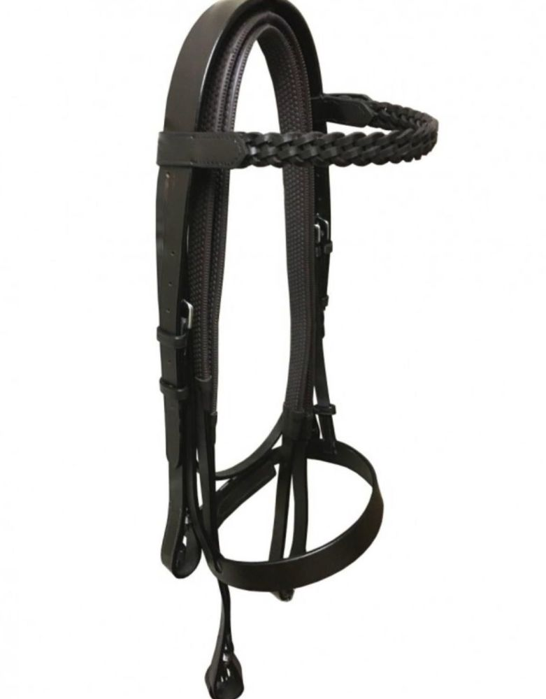 Cavesson Bridle With Plaited Browband